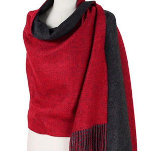 Double Side Brushed Shawl Scarf red black